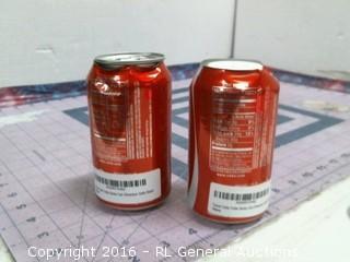 Coco Cola Stash cans