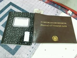 Composition book and Journal of Notarial Acts