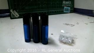 Blue Glass Roller Bottles