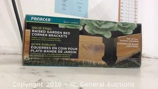 Panacea Solid Steel Raised Garden Bed corner Brackets