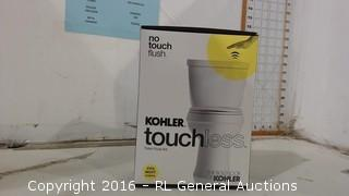 no touch flush Kohler touchless