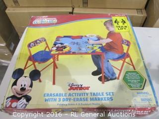 Disney Erasable Activity Table Set