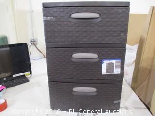 Sterilite 3 drawer chest