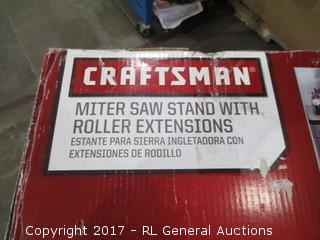 Craftsman Miter Saw Stand with Roller extensions