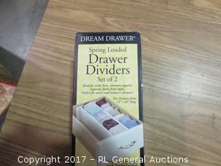 Spring Loaded Drawer Dividers