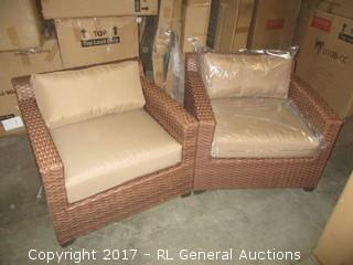 Lot #RJ0295 2 Outdoor Chairs With Cushions