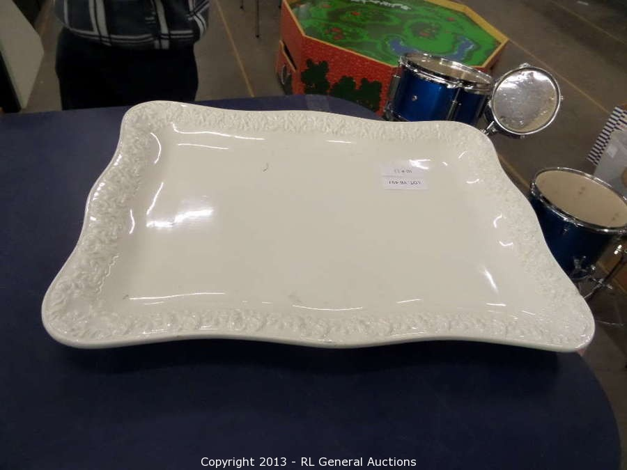 1 Large Square Bizzirri Decorative serving Tray & BIDRL.COM Online Auction Marketplace - Auction: Restaurant Equipment ...