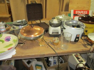 Box full Kitchen Appliances, etc