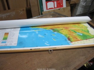 Hanging Roll down Map of California
