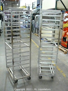 Two 15 Tray Aluminum Catering / Baking Carts