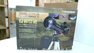 Telescope celestron travel scope with rucksack accessories