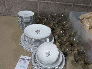 Nice glasses and dishes
