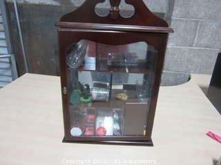 Curio Cabinet with various items(shot glasses etc)