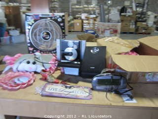 Miscellaneous Item for girls room/stero/clock/fan and decor