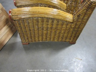 Two (2) Rattan Arms for Chair