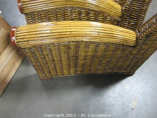 Two (2) Rattan Arms for Chairs