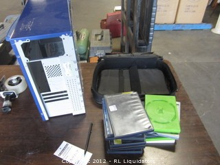 Computer case and empty cd cases