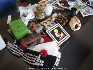 Halloween items, bakeware, candle holder,etc