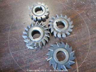 4 small high speed steel saw blades