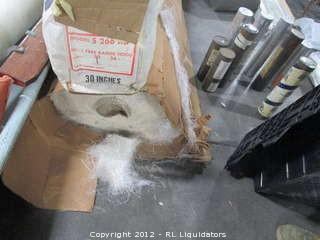 """Several Rolls of Fiberglass - Largest roll is Owens Corning Fiberglass Mat 1.5oz 76"""" x 190'."""
