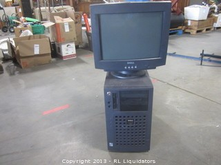 Dell Server with Monitor