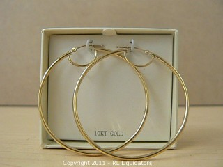 10kt. Gold Loop Earings