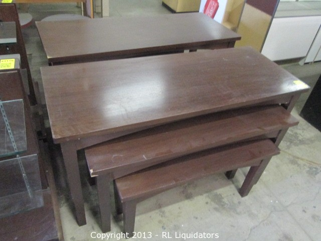 3 Solid Wood Nesting Tables
