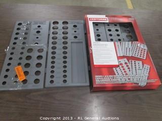 "Craftsman 3/8"" drive metric socket extension socket organizer set 6-tray set"
