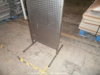 Retail Metal Peg Board Display Fixture, ADIDAS