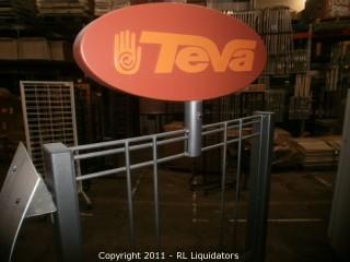 Retail Slatwall / Peg Hook Display Fixture, TEVA