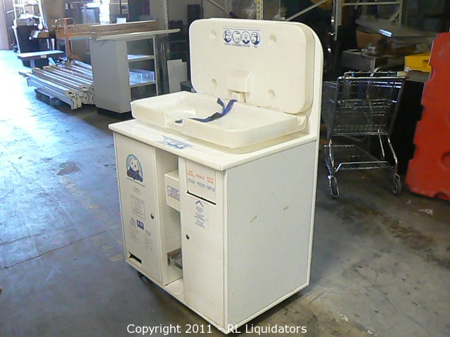9640389a24d5 COM Online Auction Marketplace - Auction: Used Restaurant & Grocery Store  Equipment ITEM: Small Comforts Baby Changing Station & Diaper Vending  Maching