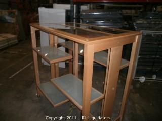 High End Wood H-Rack w/ Glass Shelves