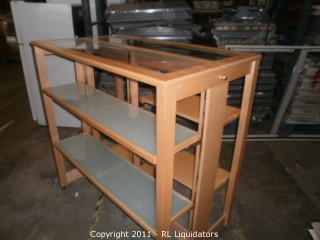 High End Wood H-Rack w/ Glass Top and Shelves