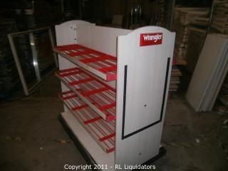 Retail Shelf Display Fixture, WRANGLER