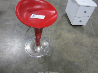 Red salon Stool