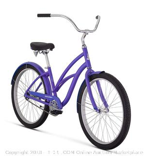 "Raleigh Bikes Women's Retroglide Step Thru Cruiser Bike, 24""/One Size, Purple (Retail $291.00)"