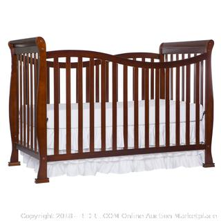 Dream On Me Violet 7 in 1 Convertible Life Style Crib, Espresso (Retail $163.00) - Bedding and Mattress Not Included