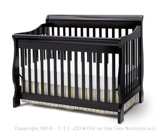 Delta Children Canton 4-in-1 Convertible Crib, Black (Retail $186.00) - Bedding and Mattress Not Included