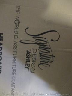 Ashley Furniture Signature Design - Quinden King Poster Headboard Panel - Component Piece - Dark Brown (Retail $219.00)