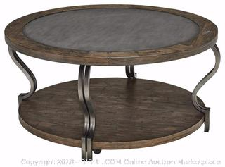 Ashley Furniture Signature Design - Rogness End Table - Vintage Casual Pine Wood - Rustic Brown (Retail $298.00)