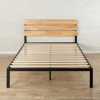 Zinus Sonoma Metal & Wood Platform Bed with Wood Slat Support, Queen (Retail $161.00)