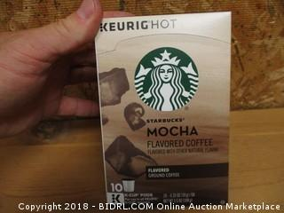 Starbucks mocha flavored coffee k-cup pods