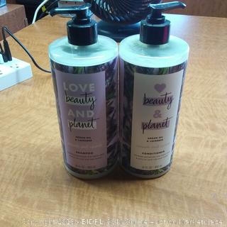 Love beauty and planet Argan Oil & Lavender Shampoo and Conditioner