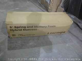 "Linen Spa twin 8"" Memory Foam and innerspring Hybrid Mattress"