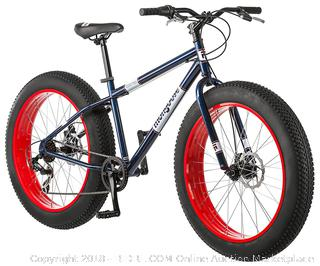 "Mongoose Dolomite Fat Tire Bike 26 wheel size 18"" frame Mountain Bicycle, Blue (Retail $269.00)"