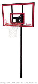 "Spalding NBA In-Ground Basketball System - 44"" Polycarbonate Backboard (Retail $151.00)"