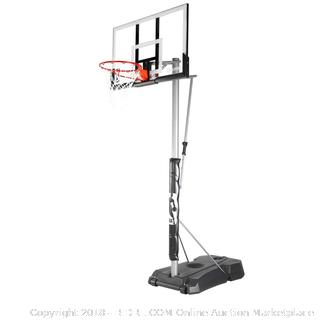 "Spalding NBA Hercules Vertical Pole Portable Basketball System - 52"" Acrylic Backboard (Retail $383.00)"