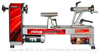 NOVA 46300 Comet II Variable Speed Mini Lathe 12-Inch x 16 1/2-Inch (Retail $399.00)