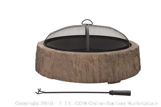 sunjoy Vail 34''Wood Burning Fire Pit (Retail $219.00)