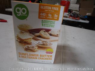 3 Boxes Go Picnic Sunflower Butter & Multigrain Crackers